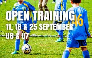 Open training U6 & U7
